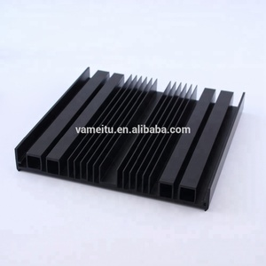 Factory price custom black extruded aluminum heatsink , aluminium heat sink