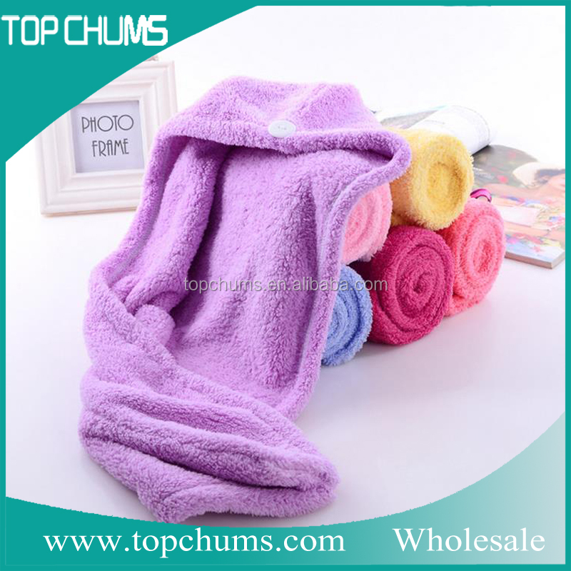 Wholesale quick dry microfiber fabric roll hair towel