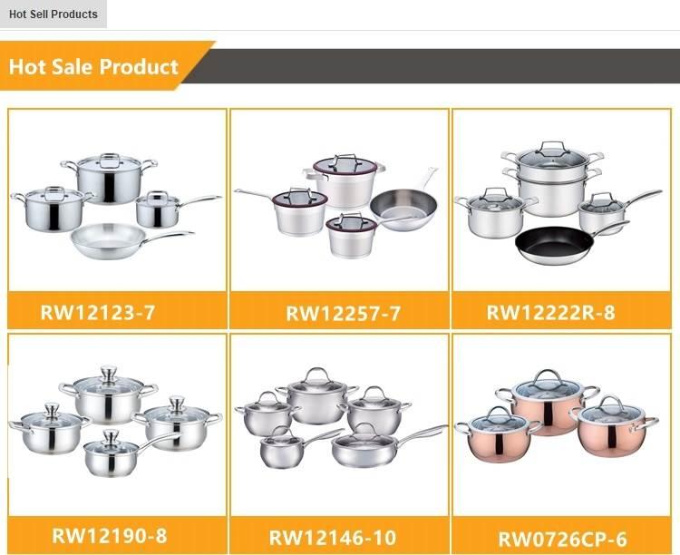 Giá rẻ hollow xử lý 7 pcs thép không gỉ nấu ăn nồi đồ dùng nhà bếp công cụ thiết lập