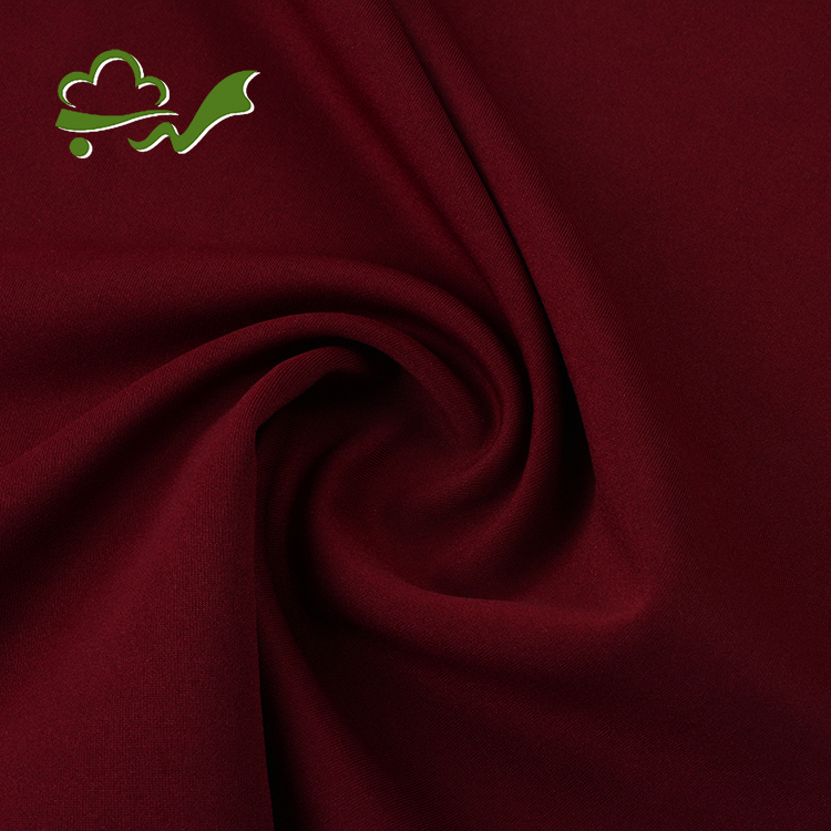 High quality stock polyester spandex thick interlock knitted fabric for garment