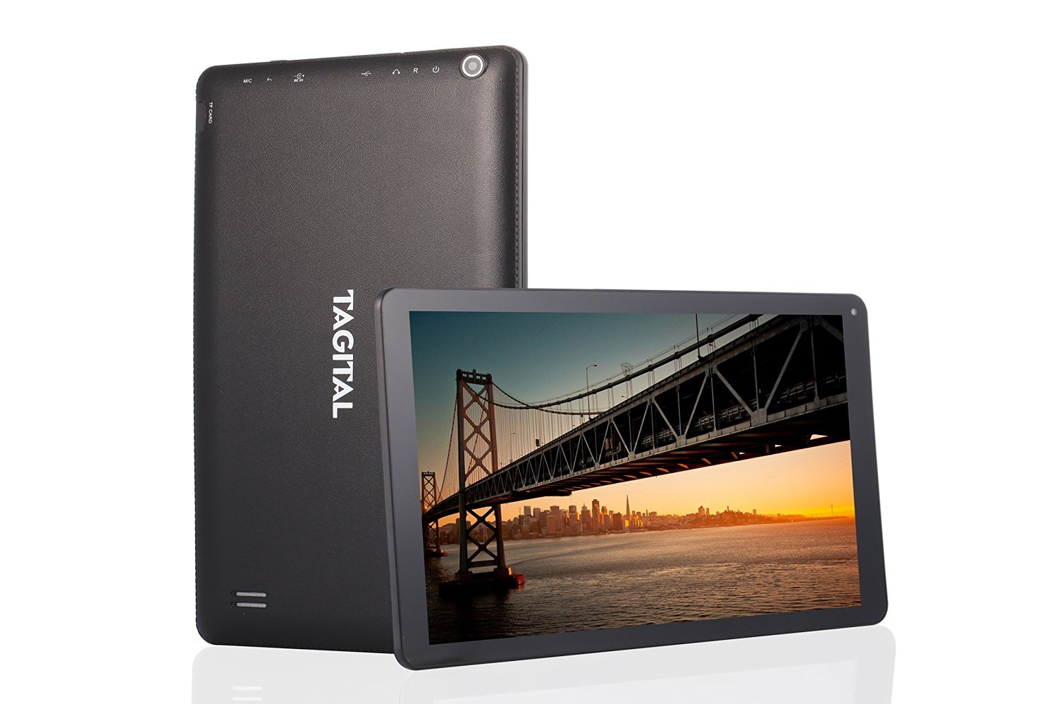 Tagital T10 Plus 10.1 Inch Octa Core Tablet PC Android 5.1 Lollipop 1GB RAM 16GB Nand Flash Bluetooth 4.0 HD Dual Camera HDMI Output Play Store Pre-installed 3D Game Supported Slim Design