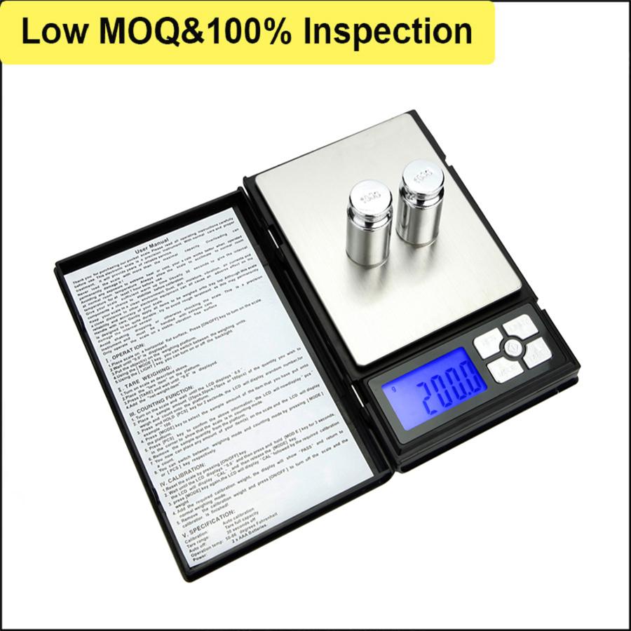 2000g 0.1g Notebook Digital Pocket Scale
