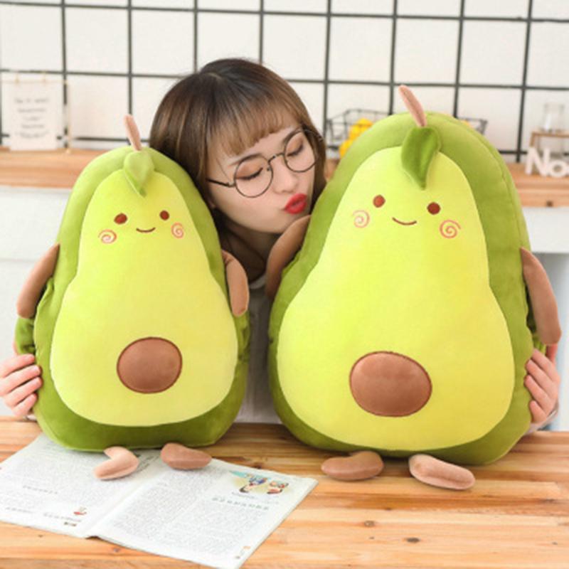 Toptan 40 cm Kawaii yumuşak sıcak satış dolması peluş meyve bebek avokado yastık