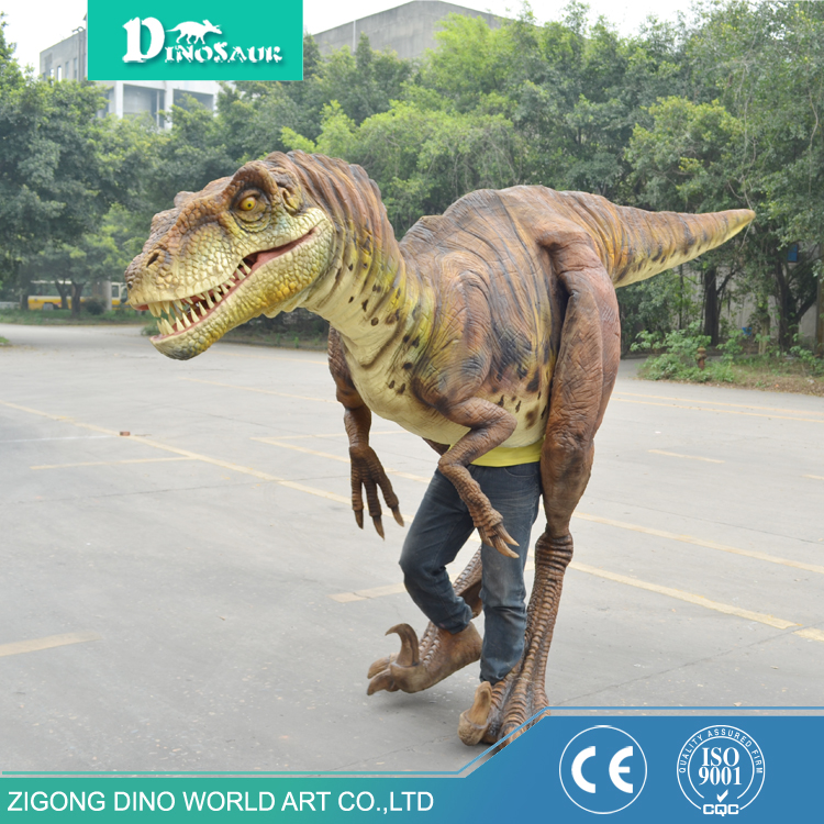 Shopping Mall Walking With Dinosaur Costume