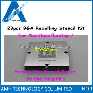 23pcsSet for BGA Reballing Stencil Kit 90*90mm Repairing Stencils For  Desktops Laptop Various North and South Bridge Graphics