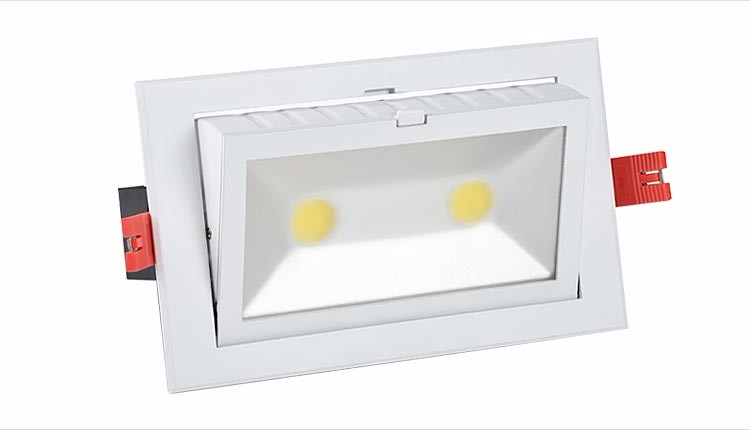 Hot sale dimmable cob ceiling recessed led downlight 48w 60w samsung led down light