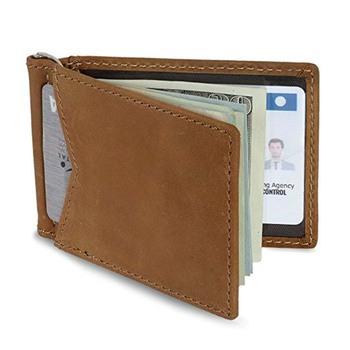 5fce3d944df90 Window ID Holder RFID Blocking Men s Genuine Cowhide Leather Vintage Bifold  Wallet Slim Money Clip Custom