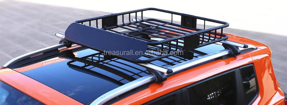 Wholesale Heavy Duty Car 4x4 Steel Roof Rack Tray Cargo