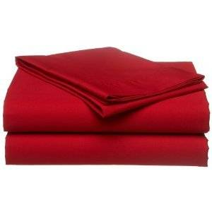 Twin Extra Long Micro Fiber Sheet Set - Soft and Comfy - By Crescent Bedding Red Twin XL