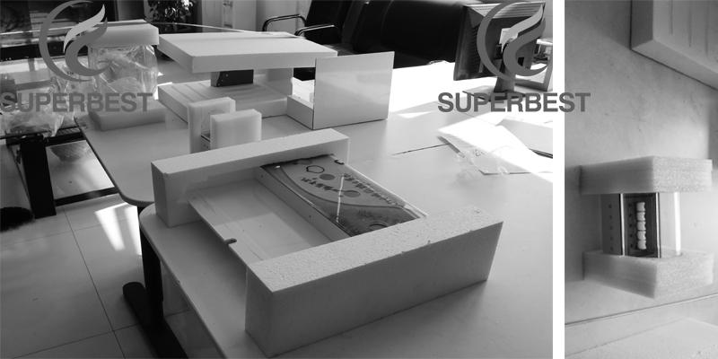 Led blanco luz importación 5mm de acrílico cosmética rotatoria de visualización del contador