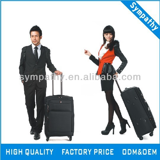 Soft polyester luggage bags suitcase trolley luggage