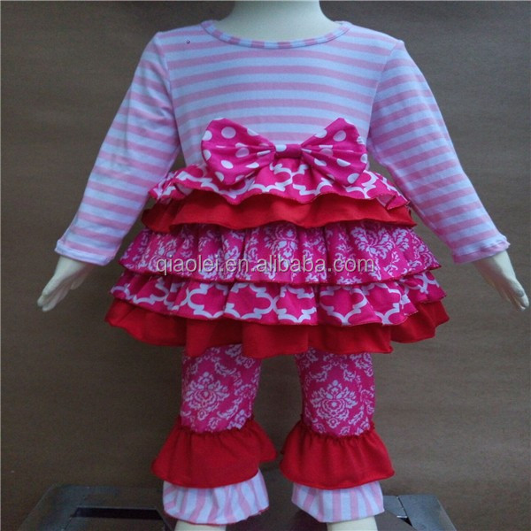 Fall Children Costumes Clothes Baby Girl Clothing Sets New Fashion Kids Girls Boutique Outfits