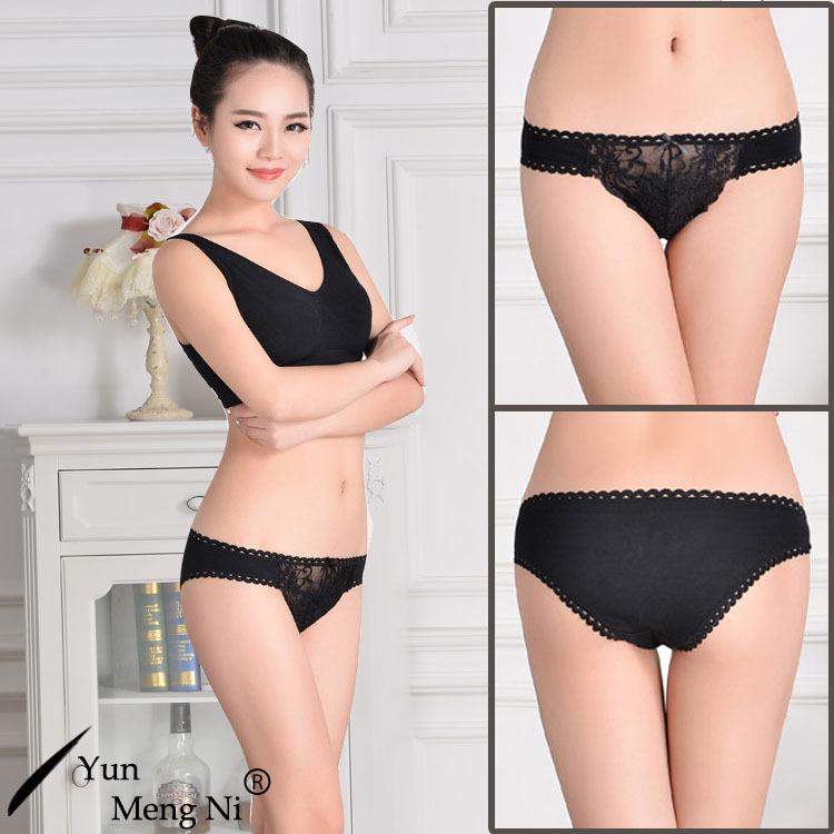 Nuevo artículo de lujo de alta calidad de algodón mujeres sexy ropa  interior transparente de encaje 4941da87e7c8
