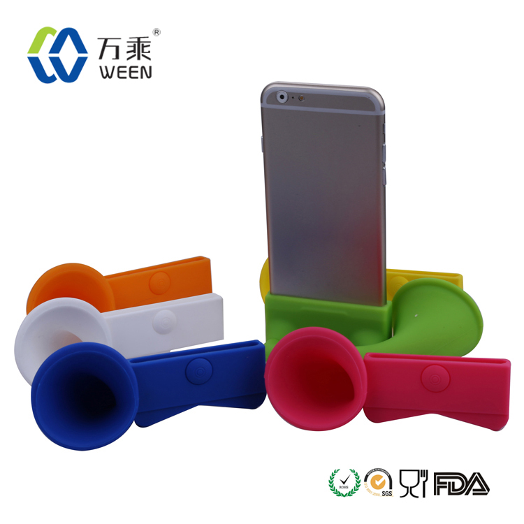 Hot Portable Amplifier Silicone Horn Stand Speaker for iPhone 4 & 4S / 3GS / 3G