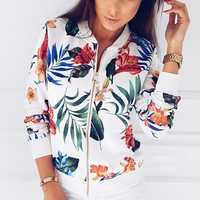 Z52794D Best selling autumn and winter women printed short jacket zipper jacket