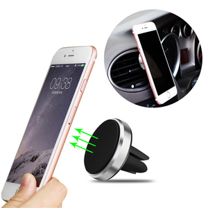 Car Holder Mini Air Vent Mount Magnet Magnetic Phone Mobile Holder Universal For iPhone X XS Plus Samsung Car Holder Stand