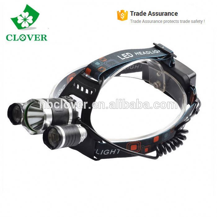 Aluminum alloy material 5000 lumens high power boruit headlamp rechargeable