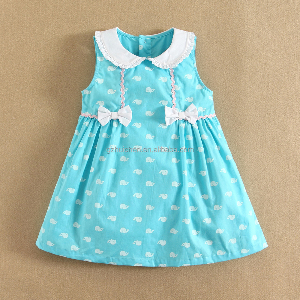 Momandbab short sleeve baby dress cutting 100 cotton woven Baby clothing designers