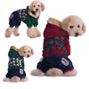 Hooded Teddy Dog Clothes Foreign Trade Clothing Tide Four-legged Dog Clothes Thick Winter England Style Dog Thick Coat
