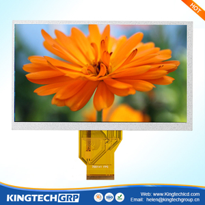 50 pin 7 inch new design mcu/rgb/lvds tft lcd matrix interface with rgb interface and touch screen module
