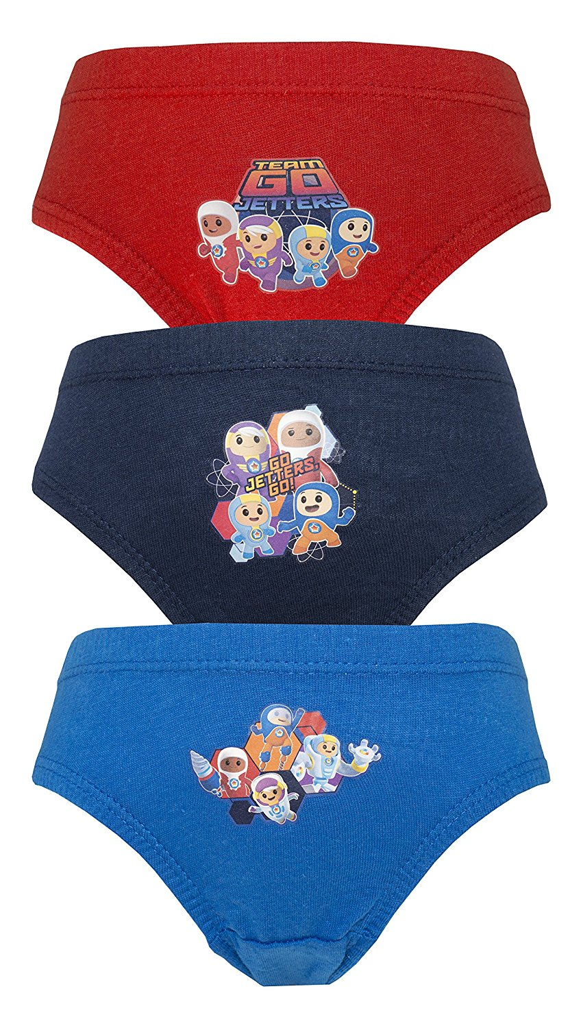 Cartoon Character Products CBeebies 3 Pack Boys Go Jetters Pants/Briefs Var - Blue/Red 2-3 years/98 cms