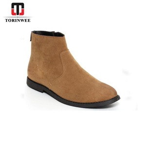 Microfiber Upper Zip Side Desert Mens Boots Shoes