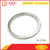 metal accessories round ring for bags