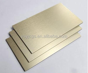 Interior/exterior wall decorative Alucobond Aluminum Composite panels Brushed finish gold