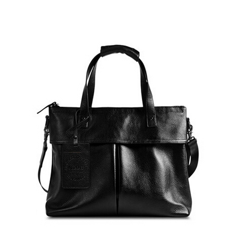 eed4ad027a Get Quotations · 100% Genuine Leather Handbags Men Briefcase Brand First  Layer Cowskin Mens Messenger Bags Shoulder Bags