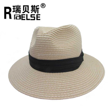 men panama plain paper promotional straw hat fashion design men straw hat  popular Panama hat e48ce1b83e08