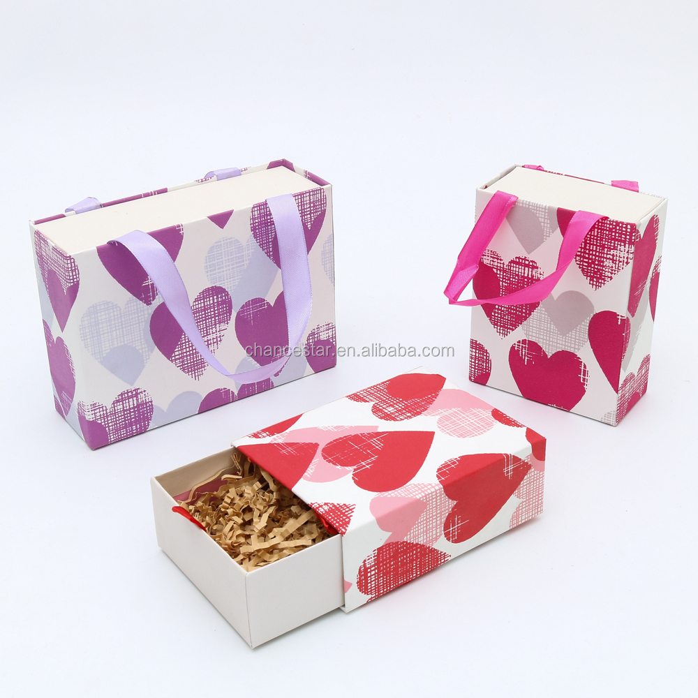 Custom wedding paper packaging box for candy