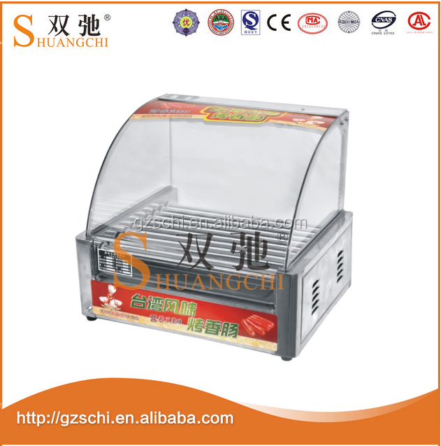 Hot dog making machine automatic hot dog roasting grill roller/electric sausage roaster