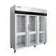 Air cooling 6 door 1300L display refrigerator for kitchen