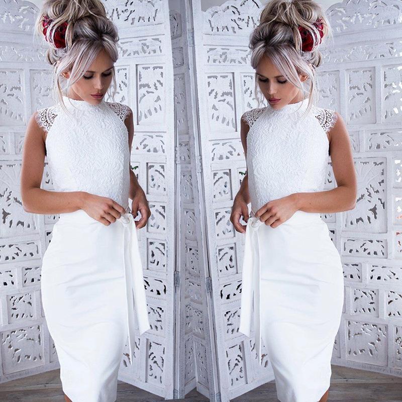 detailed look 383d1 1c47f abiti bianchi corti eleganti all'ingrosso-Acquista online i ...