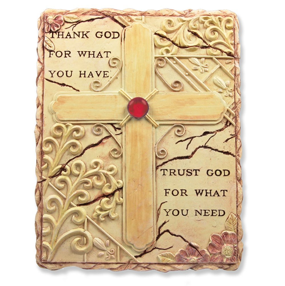 Buy Your Hearts Delight Inspirational in God We Trust Wall Decor, 19 ...