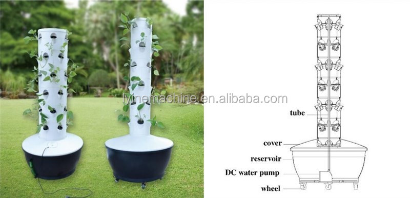 Elegant Vertical Soilness Hydroponics Tower Garden Growing System