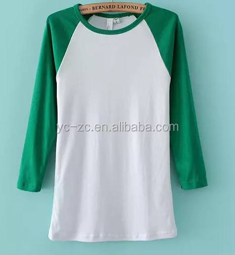 Blank Ruffle Raglan Shirts For Embroidery T Shirt Design 2018