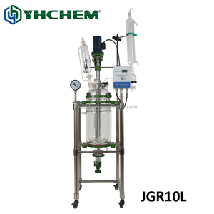 10l top quality packed bed reactor for sale, made of high quality glass material