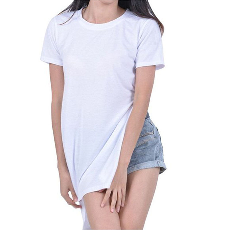 b7a6f8826 Get Quotations · T-shirt for women plus size casual side split tshirt black  white sexy t shirts
