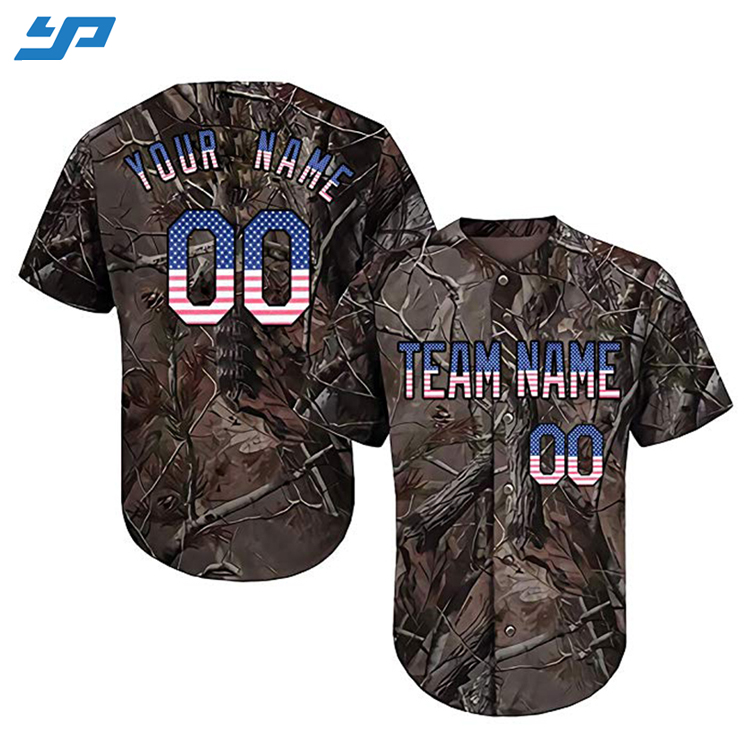 OEM Custom Sublimatie Digital Printing Pakken Twill Baseball Jersey Shirts