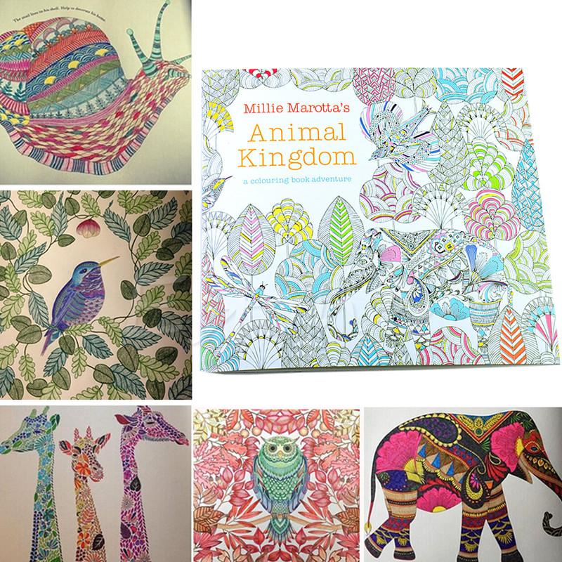 Animal Kingdom Colouring Book Sainsburys Millie Marottas Regno Animale Libro Da Colorare Carta Stampata E