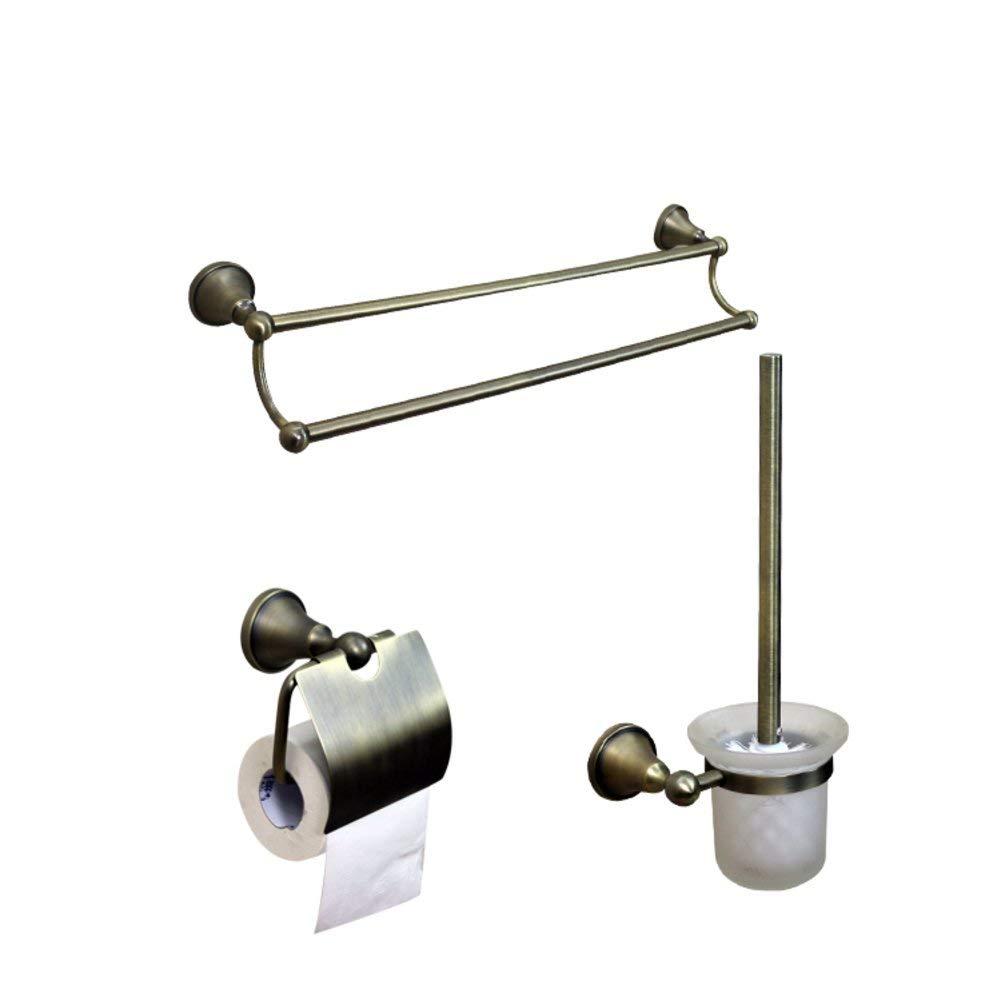 ZZB All Copper Bathroom Accessories/Bronze Towel Rack/Towel Bar/Toilet Paper Holder/Hook/Bathroom Accessories Set-E