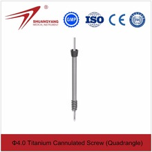 4.0mm titanium surgical cannulated screws double threaded screw price