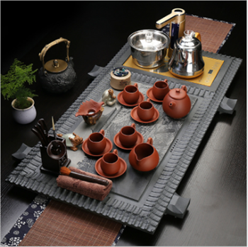 Chinese best quality Double stove wood clay ceramic kung fu tea set