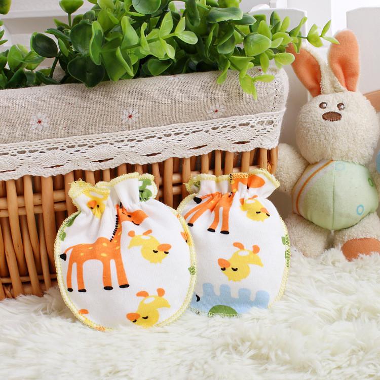 381f0ed4cf8b Newborn Infant Baby Glove Cotton Anti Scratching Gloves For 0 6Month ...