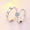 PR2536 engagement ring diamond,men woman wedding rings couple ring adjustable