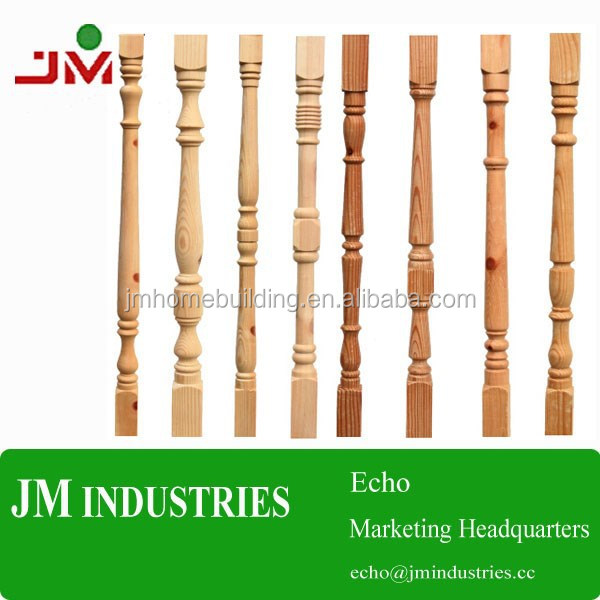 Oak/pine/poplar Balustrades/spindles/balusters For Staircase