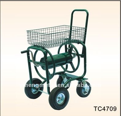 Metal Four Wheel Garden Hose Reel Cart Metal Four Wheel Garden