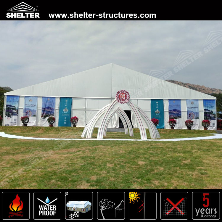30x50 aluminum frame pvc tent clear span outdoor marquees for sale