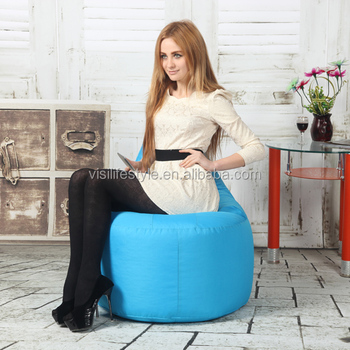 Visi Bean Bag Lazy Sofa Single Small Bedroom Chair Style Pear Shape Polyester Beanbag Relax Home Decoration